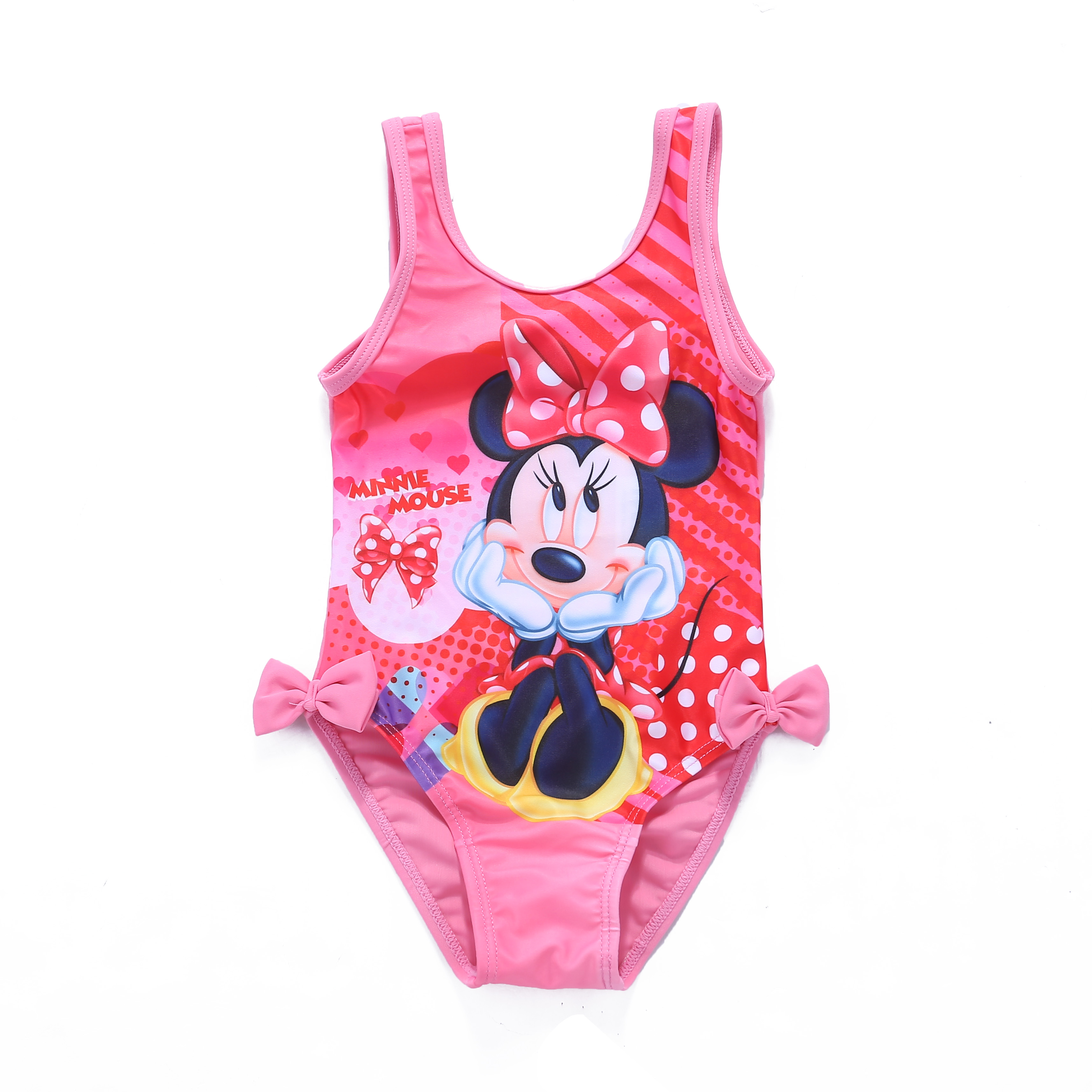 cef0616d6 Baby Girls' Disney Minnie Mouse One Piece Swimwear With Bowknot At  Sides__WH-GSW004